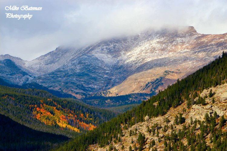 Fall Color and First Snow on Fairchild Mountain Rocky Mountain National Park (RMNP)